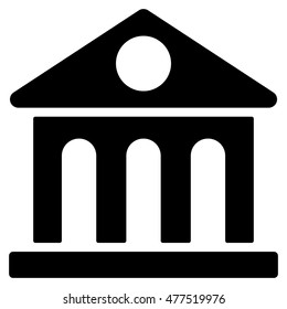 Museum Building icon. Vector style is flat iconic symbol, black color, white background.