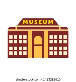 museum icon. flat illustration of museum vector icon for web