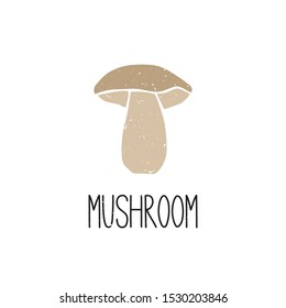 Mushroom cabbage symbol isolated on transparent background. Filled icon. Colorful pictogram original design. Can be used for infographics, identity or decoration. Vector illustration