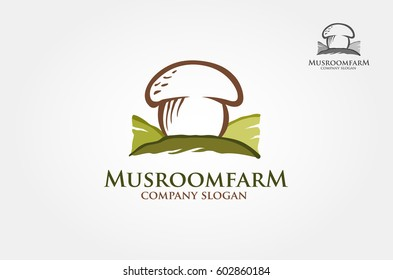 Mushroom farm Logo illustration Template is An excellent logo template highly suitable for company