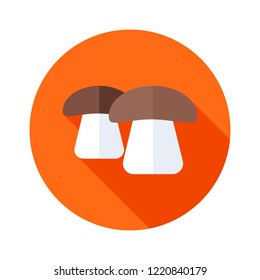 Mushroom icon illustration isolated vector sign symbol. Mushroom line icon for web, mobile and infographics.