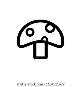 Mushroom icon,vector illustration. Flat design style. vector mushroom icon illustration isolated on White background, mushroom icon Eps10. mushroom icons graphic design vector symbols.