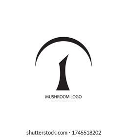 mushroom illustration icon logo vector