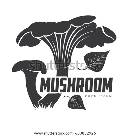 mushroom logo templates your design autumn stock vector royalty