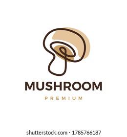 mushroom logo vector icon illustration