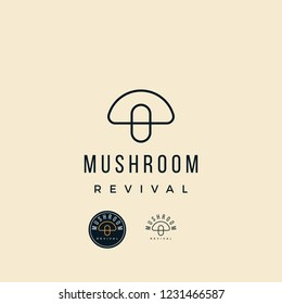 Mushroom Revival logo design inspiration