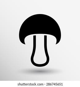 Mushroom sign icon. Boletus mushroom symbol concept.