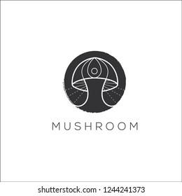 Mushroom vector logo. Mushroom icon. Mushroom emblem