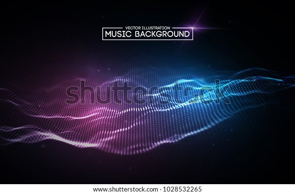 Music Abstract Background Blue Equalizer Music Stock Vector (Royalty