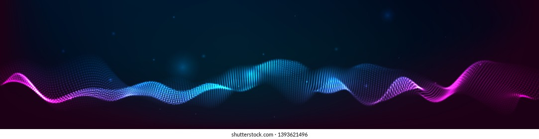 Music abstract background. Equalizer for music, showing sound waves with musical waves, the concept of a music equalizer vector.