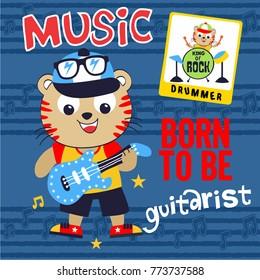 music animal cartoon vector