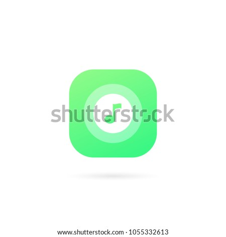 music app logo template design vector stock vector royalty free