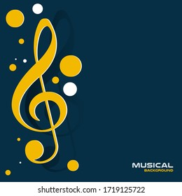 Music background for design, Vector and illustration,Template Design