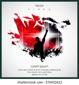Music background ready for poster or banner, vector