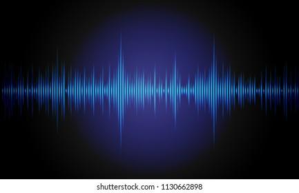 Music background sound waves for equalizer. Digital waveform design. Vector illustration.