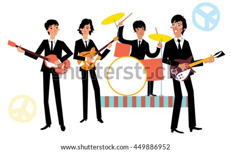 Music band playing concert