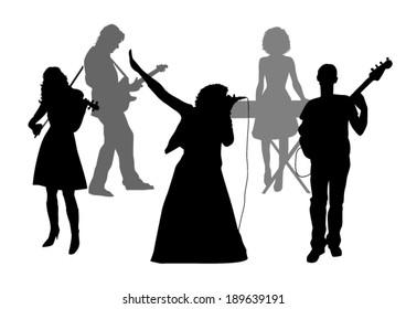 Music Band Silhouettes