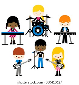 Music band vector.