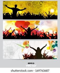 Music banner set. Vector