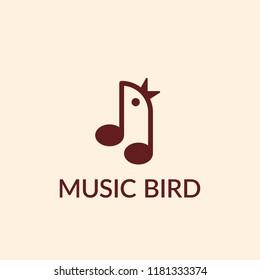 Music bird vector icon.