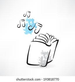 music books grunge icon