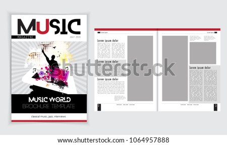 Music Brochure Layout Stock Vector Royalty Free 1064957888