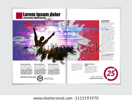 Music Brochure Layout Stock Vector Royalty Free 1112191970