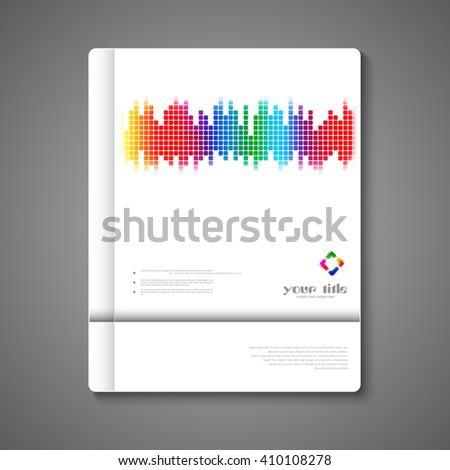 Music Brochure Template Design Stock Vector Royalty Free 410108278