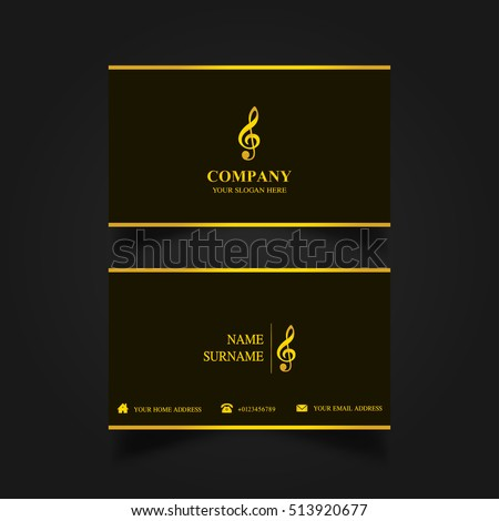 Music business card template stock vector royalty free 513920677 music business card template accmission Images