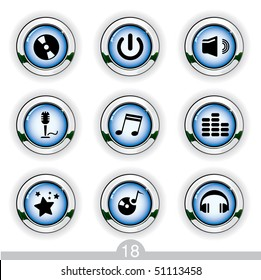Music buttons from series