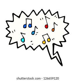 music cartoon