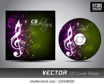 Music CD Cover design. EPS 10.