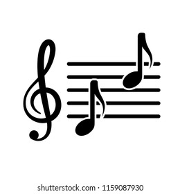 music - clef -nota - melody icon vector