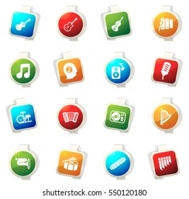 Music color icon for web sites and user interfaces
