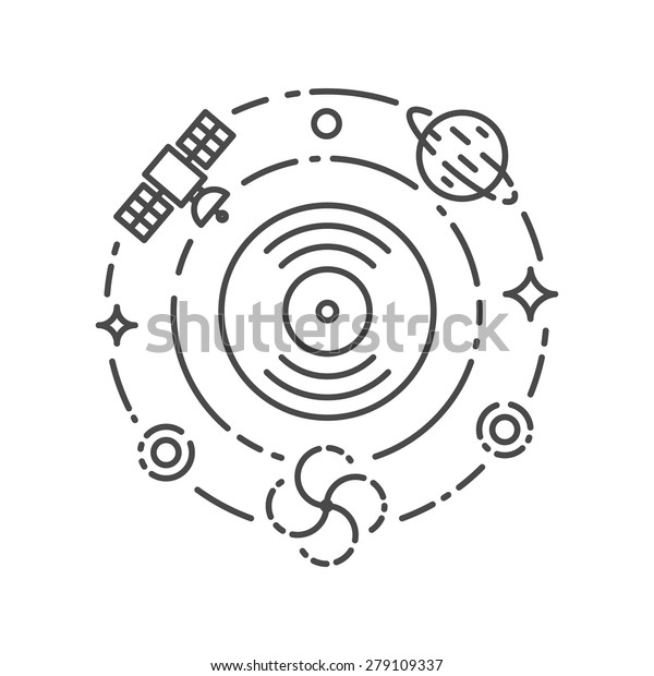 Music Concept Ambient Chillout Space Electronic Stock Vector