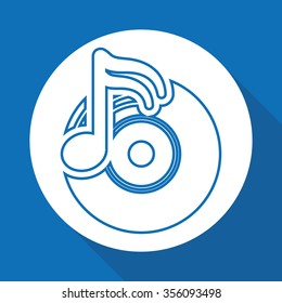 Music concept with icons design, vector illustration 10 eps graphic.