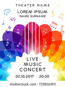 music concert poster design vector template for flyer banner invitation