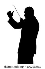Music conductor illustration