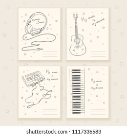 Music cover for notebook