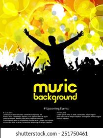 Music dance background, vector