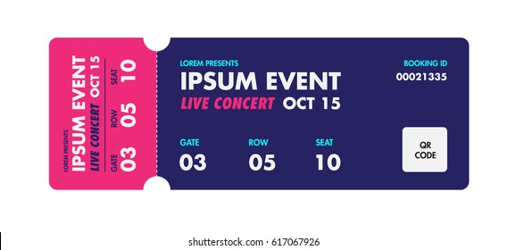 Event Ticket Template Stock Images RoyaltyFree Images  Vectors
