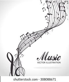 Music design, vector illustration eps 10.