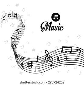 Music digital design, vector illustration eps 10.