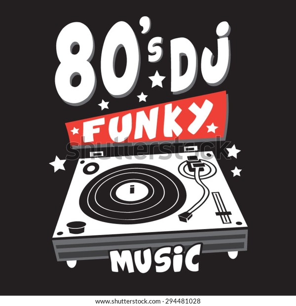 Music Dj Remix Typography Tshirt Graphics Stock Vector