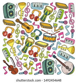 Music - doodles collection. Vector. musical instruments