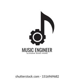 music engineer logo simple perfect