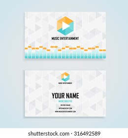 music entertainment name card template, business name card design set