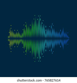 Music equalizer abstract background for design. Vector illustration