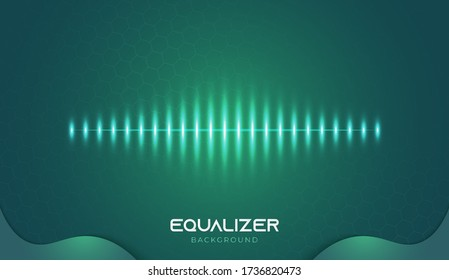 Music Equalizer Background with Futuristic Style. Abstract Sound Spectrum Design for the Music Industry, Suitable for Banners, Posters, Covers, Wallpaper, or Presentations