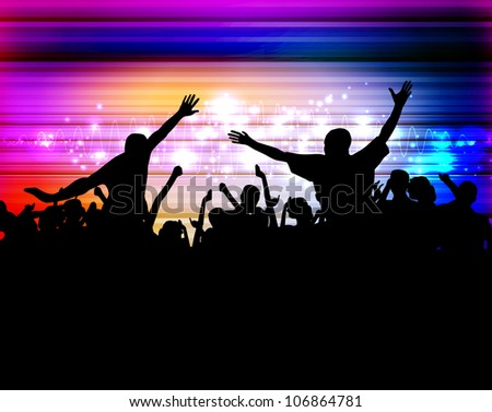 Music Event Background Vector Eps 10 Illustration Stock Vector